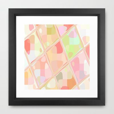 #Re-Created #Mirrored SQ LXXXVII #Framed #Art #Print  by #Robert #S. #Lee  - $35.00