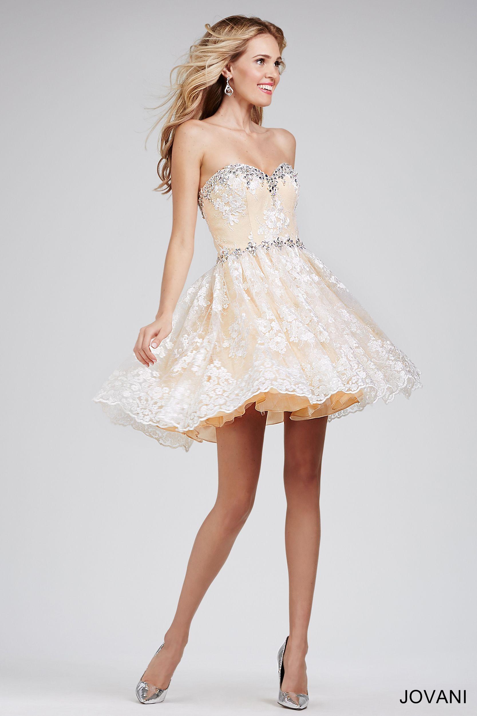 27+ Cheap Cream Homecoming Dresses