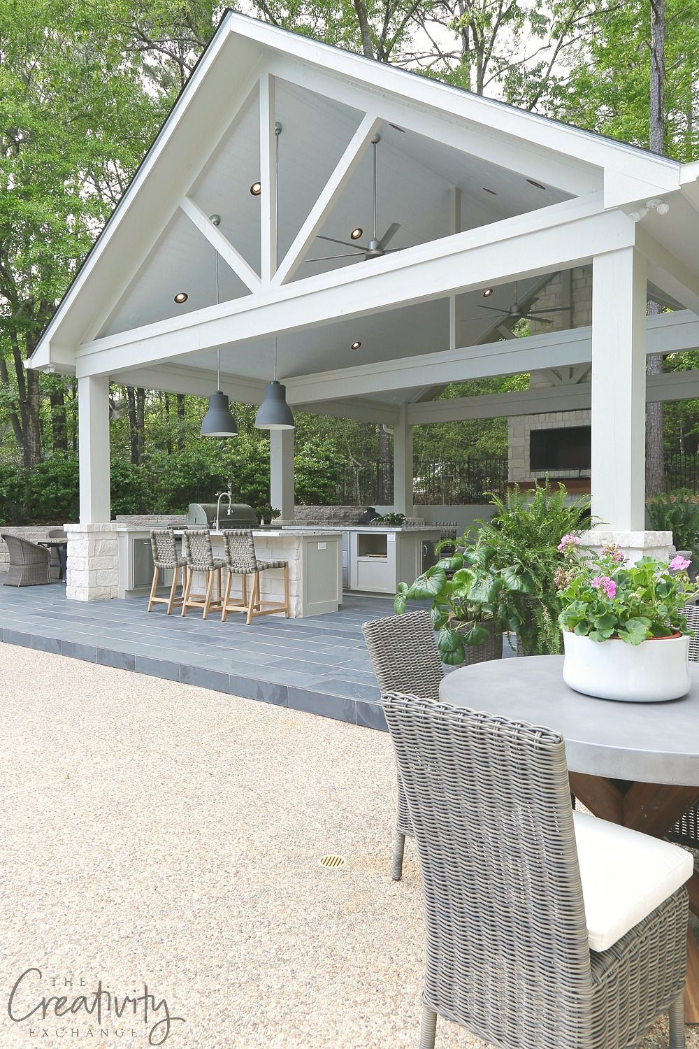 Outdoor kitchen and pool house project reveal pool houses