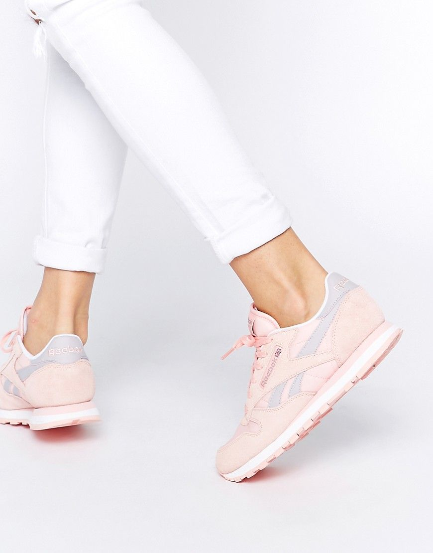 3818bcd2d41a5 Reebok+Classic+Leather+Patina+Pink+Retro+Trainers