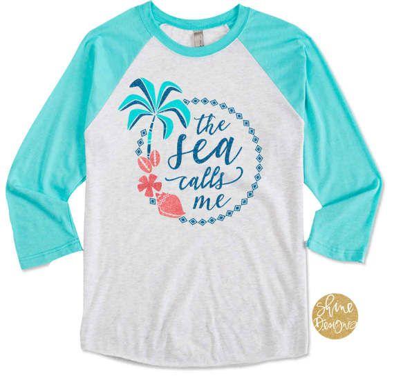 477840d3 The Sea Calls Me - Moana Shirt - Disney Glitter Shirt You will love our  Ocean
