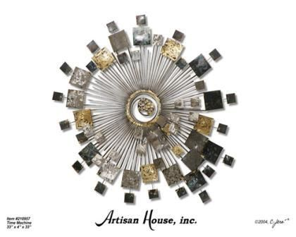 Time Machine Artisan House Metal Wall Sculpture 49500