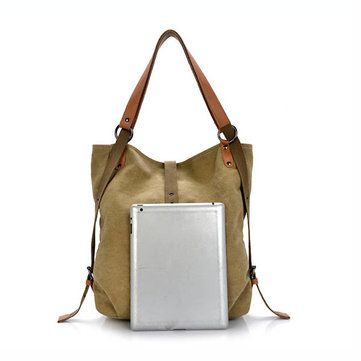 6bc5fe99609c Women Canvas Casual Multifunctional Microfiber Leather Large Capacity  Handbag Shoulder Bags Backpack
