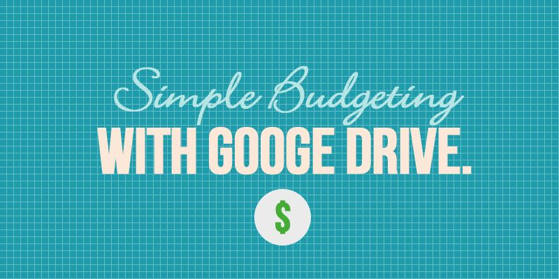 Simple Budgeting with Google Drive #Google #Template #Budget - simple budget