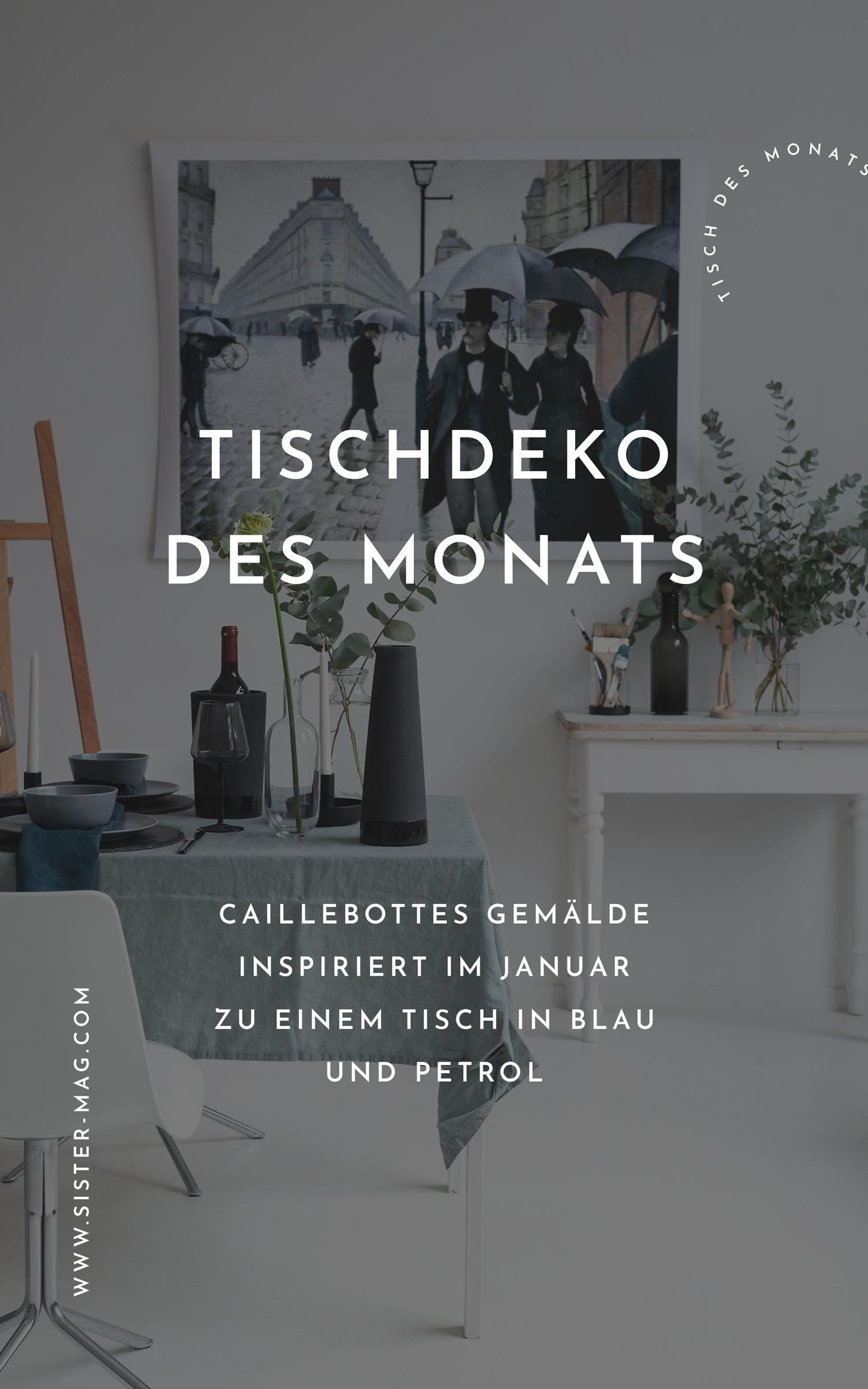 Tischdekoration Des Monats Januar Zum Thema Paris Blau Wohnen