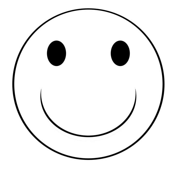 happy face coloring page # 8