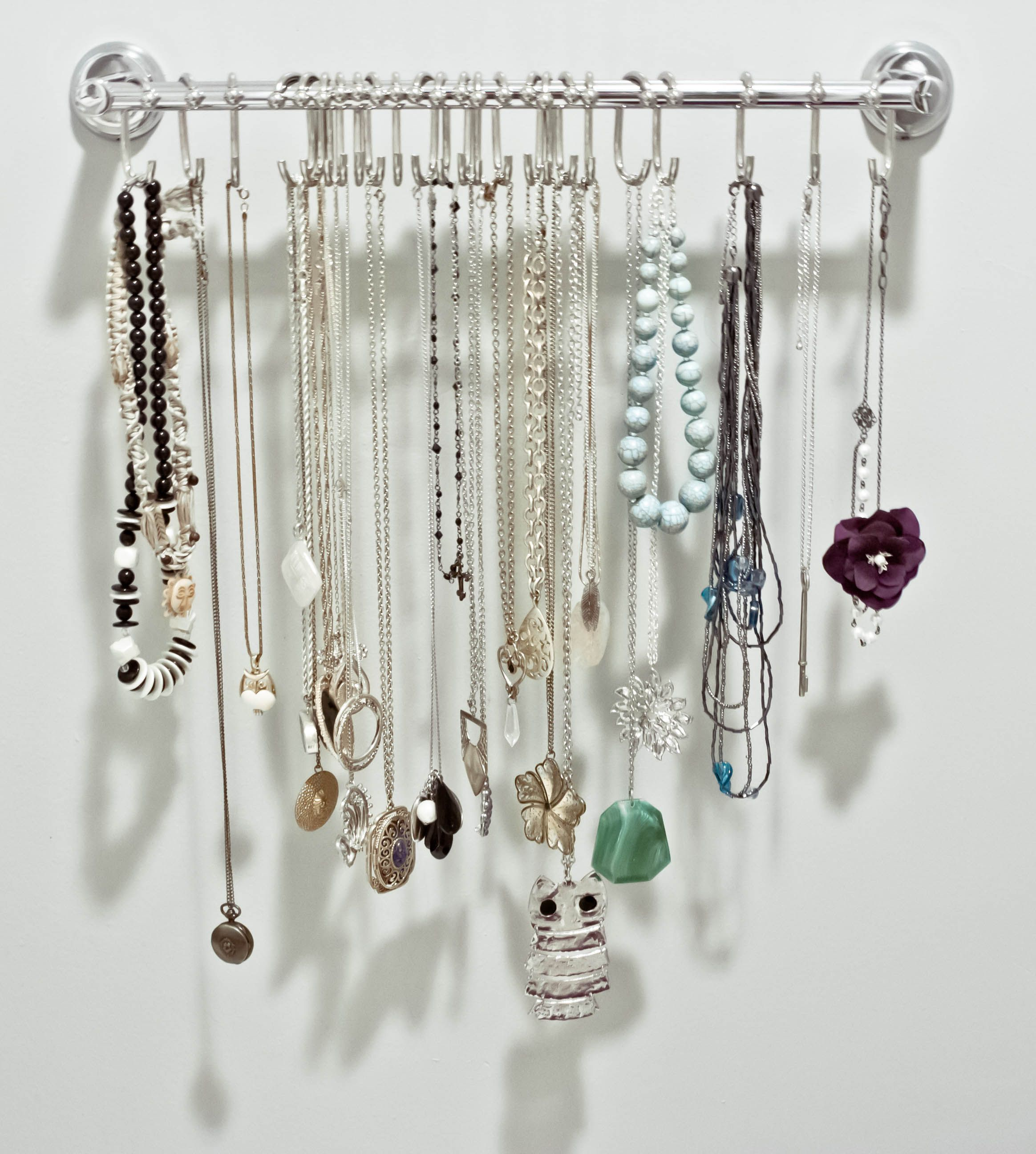 Diy Necklace Holder Jewelry Organizer Diy Jewelry Organizer Organizations And
