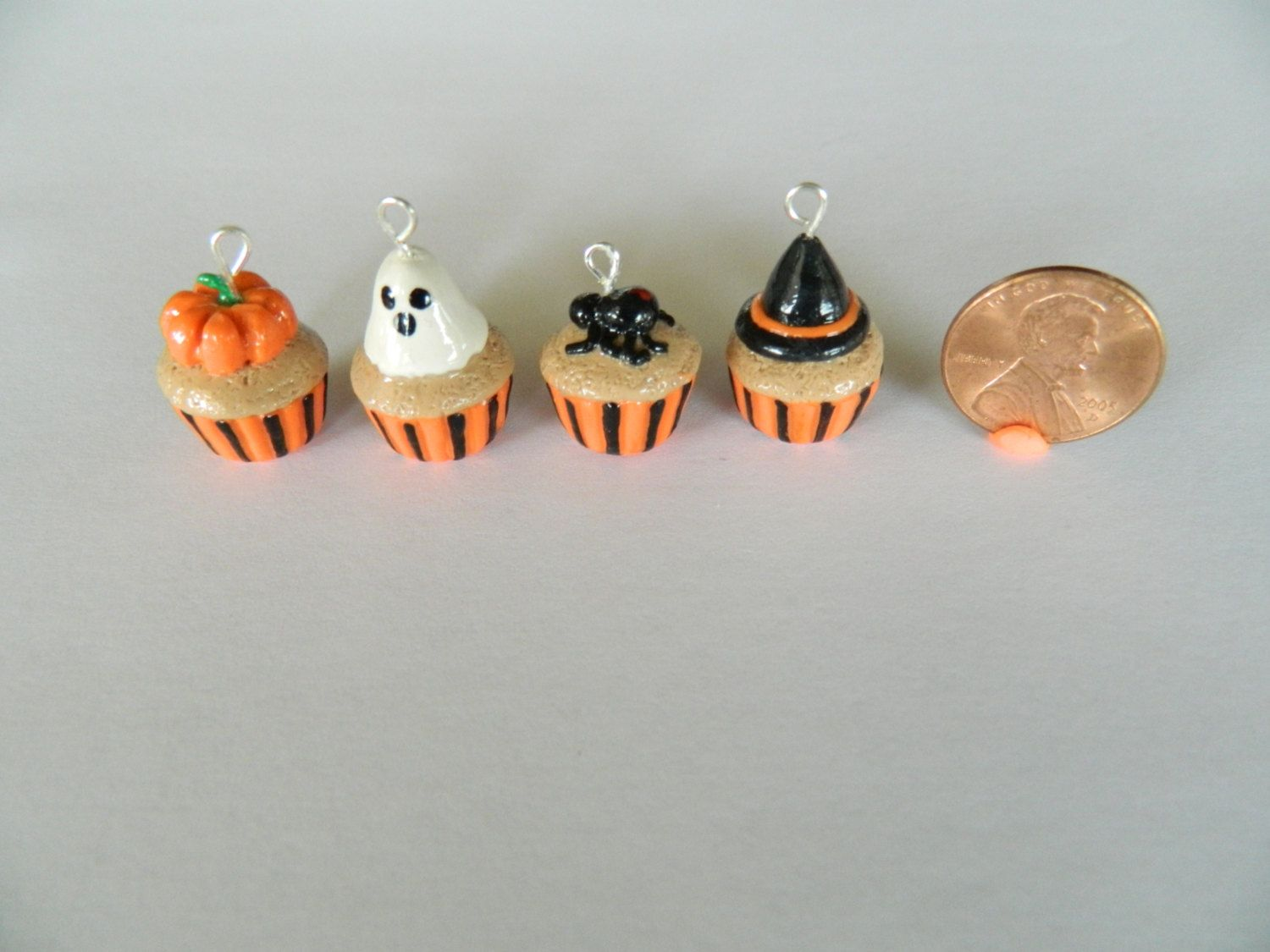 halloween polymer clay cupcake charmslittletreasurehouse, $2.99