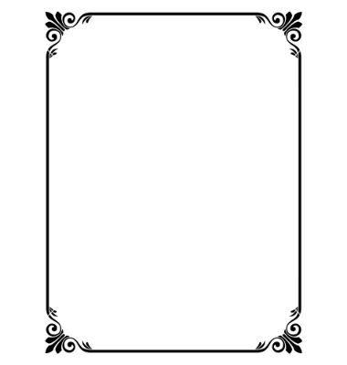 Simple ornamental decorative frame vector 631376 by 100ker on cards stopboris Choice Image