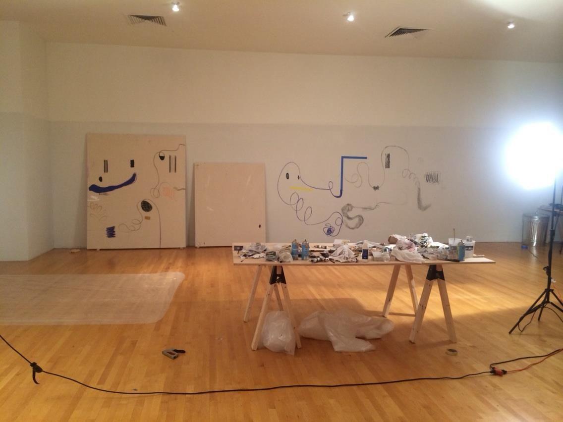 Christian rosa artist residency studio paintings vito