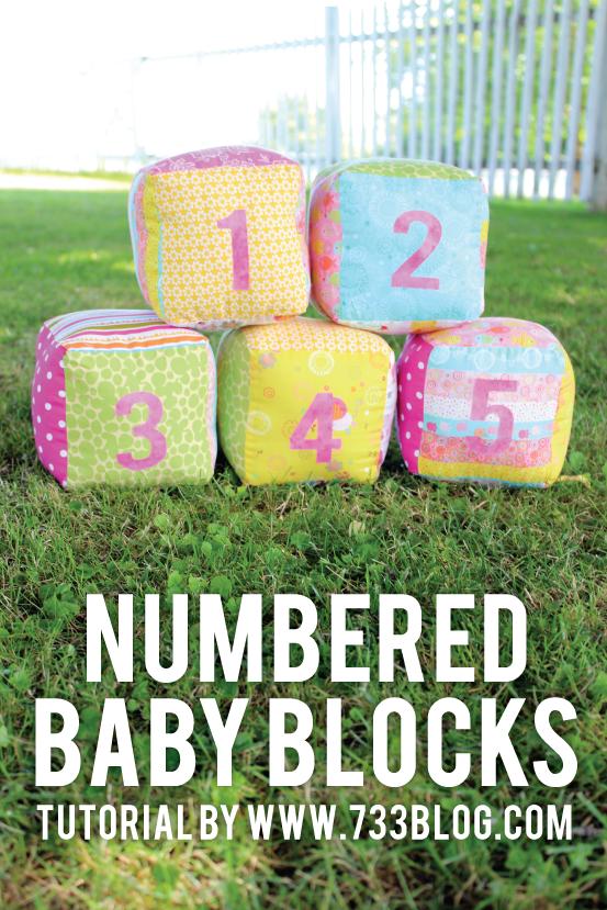 Numbered Baby Blocks Tutorial