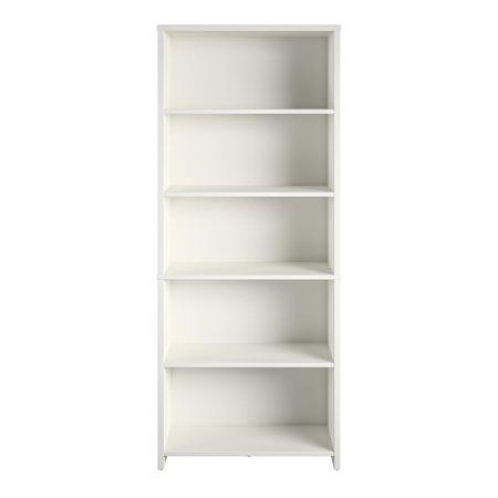 Mainstays Heritage 5 Shelf Bookcase White Walmart Com Bookshelves In Bedroom Shelves White Shelving Unit
