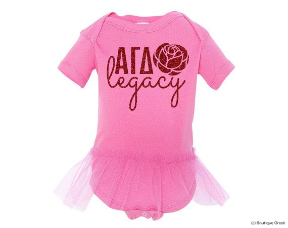 Agd Alpha Gamma Delta Legacy Custom Baby Outfit With Tutu Red