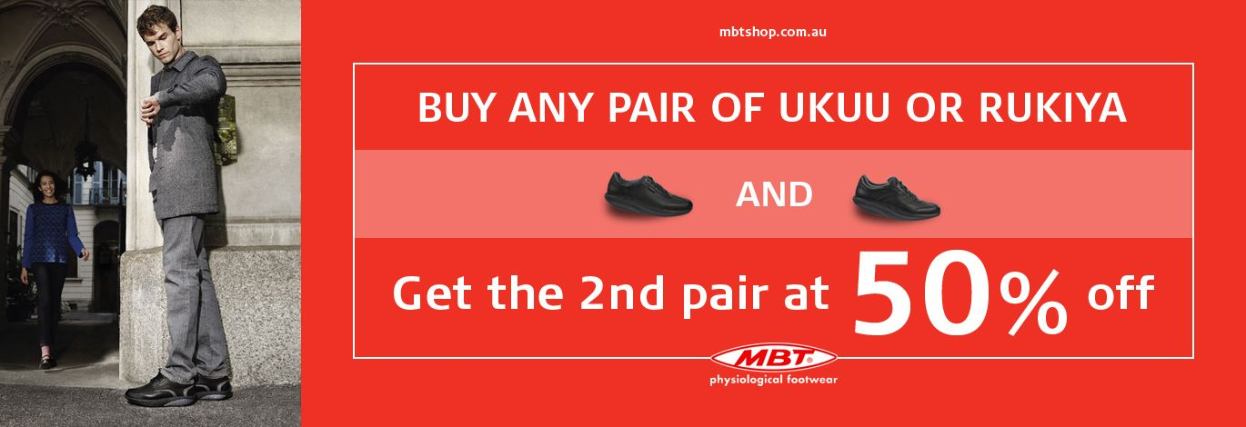 Back to school specials! Buy a pair of a UKUU or a RUKIYA from our Online Store and get a 2nd pair of any other shoe at 50% OFF!  So hurry and loose yourselves in your old school times!  For more details visit: https://www.mbtshop.com.au/  Men's Ukuu Walk Lite Lace Black: http://goo.gl/PTPd2j Women's Rukiya Walk Lite Lace Black: http://goo.gl/q7erwp  #MensShoes #WomensShoes #Ukuu #Rukiya #MBTShoesAU