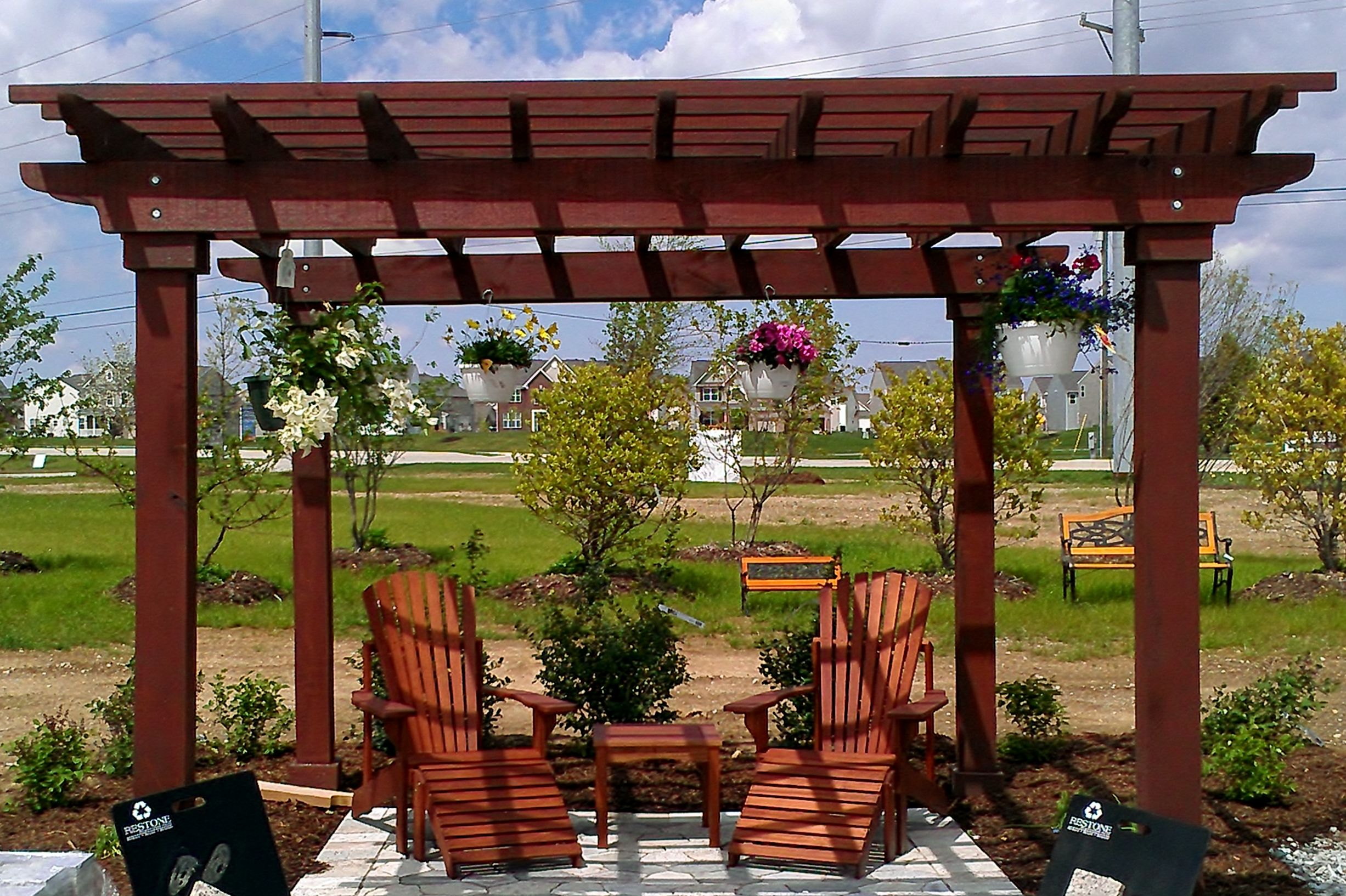 Metal frame sonoma gazebo with bar shelf metal gazebo for Metal frame pergola designs