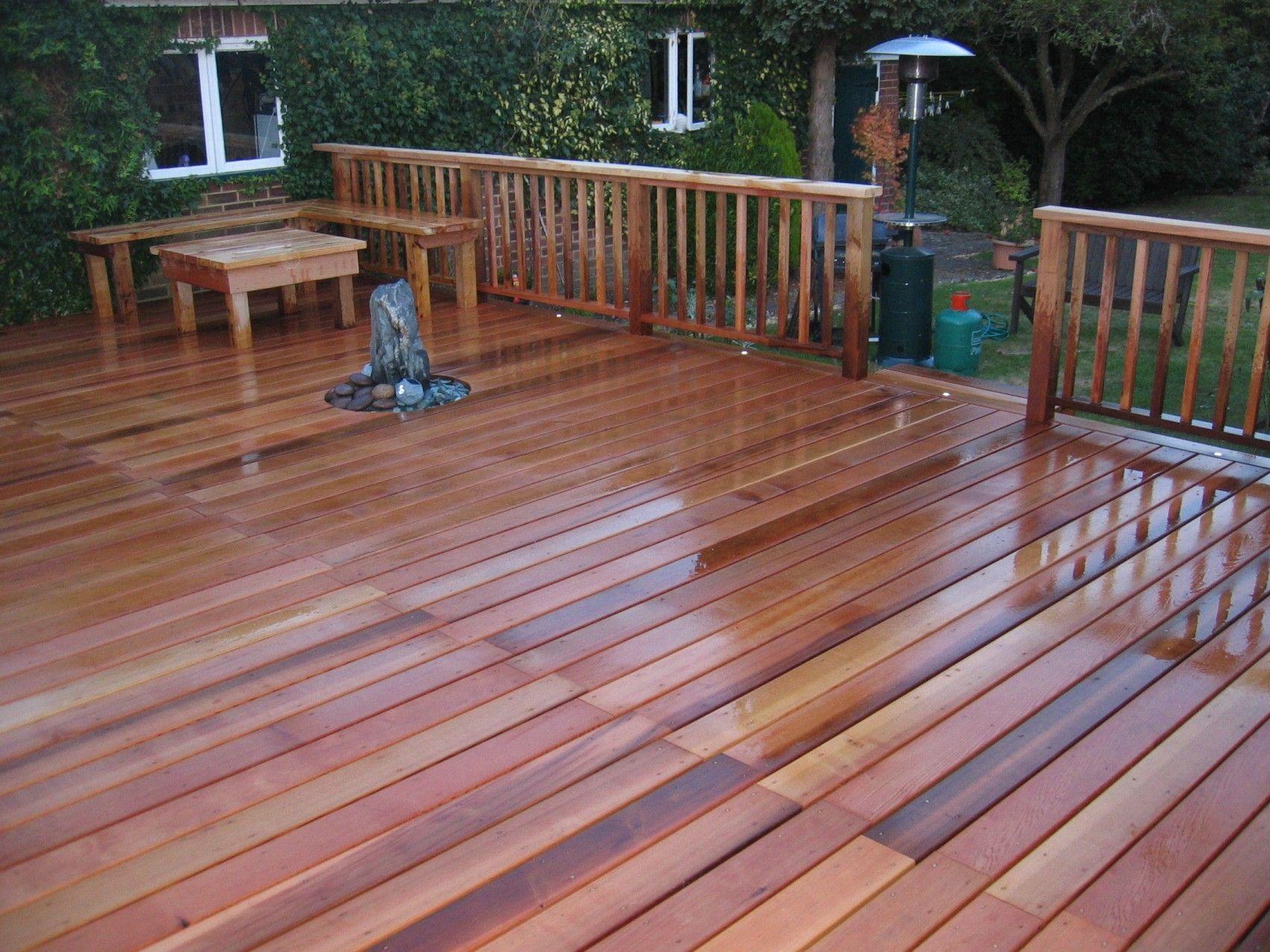 Red Cedar Deck Pictures
