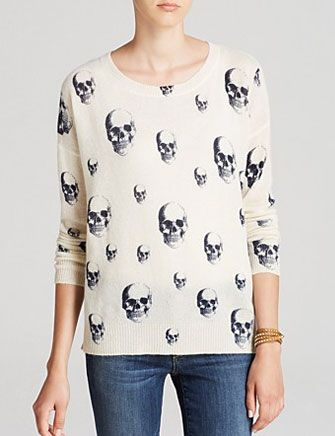 360 Sweater Cashmere Multi Dexter Skull Crew