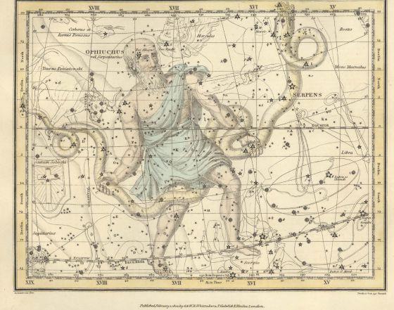 El Sol abandona el 18 de diciembre esta constelación, que convierte en 13 el número de signos zodiacales en lugar de los 12 tradicionales