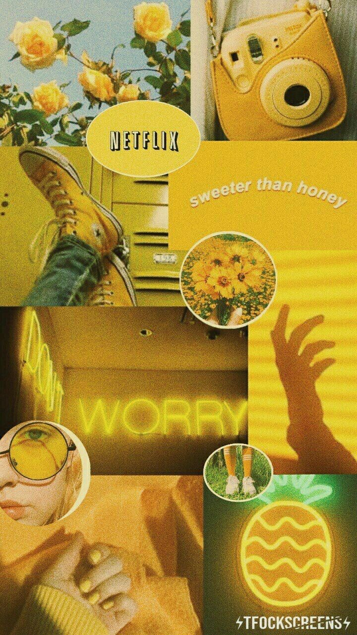 Pinterest// rachelnoemi17 Iphone wallpaper yellow
