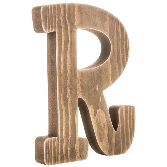Standing Wooden Letter R