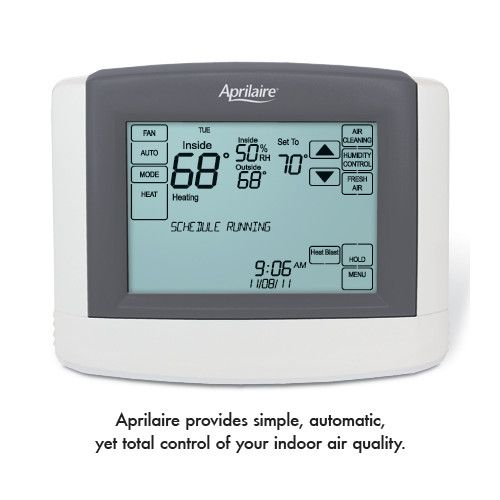 Touchscreen Multi Stage 2h 2c Or 4h 2c Prog Thermostat W Humidity Or Ventilation Control 160 Digital Thermostat Dehumidifiers Humidifier