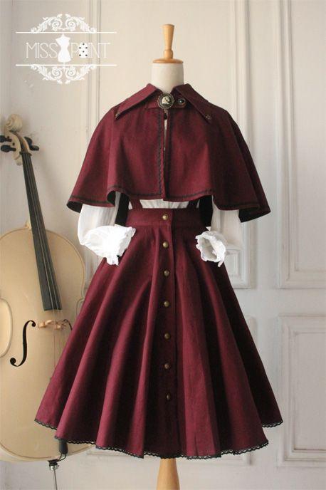 Miss Point Gothic Vintage Lolita Salopette #vintagedresses