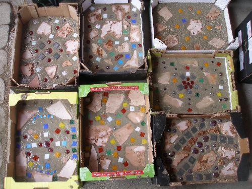 Bunte Trittsteine Ideen Rund Ums Haus Pinterest Concrete - Farbige betonplatten