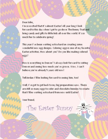 100 great easter free printables easter bunny easter for Letter to easter bunny template