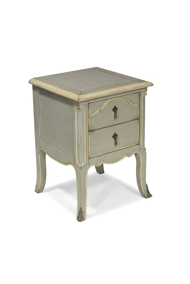 Light Grey Bedside Table: French Style Bedside Tables, Handmade Bedside