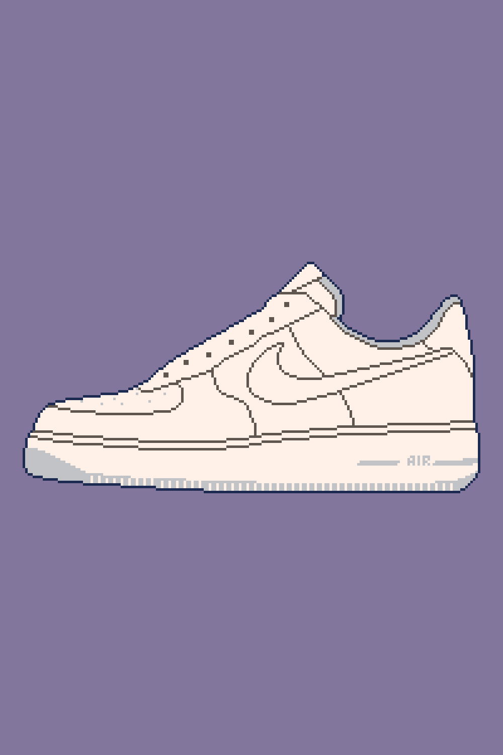 Nike Air Force 1 Pixel Art In 2020 Pixel Art Nike Wallpaper 1 Pixel