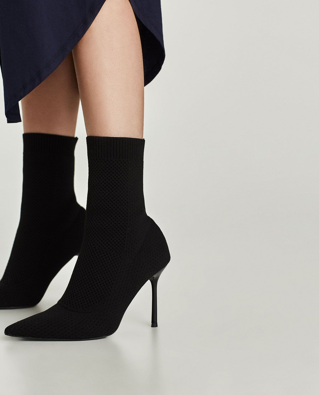 00adcaa5f93 STRETCH FABRIC HIGH HEEL ANKLE BOOTS-View all-SHOES-WOMAN   ZARA ...