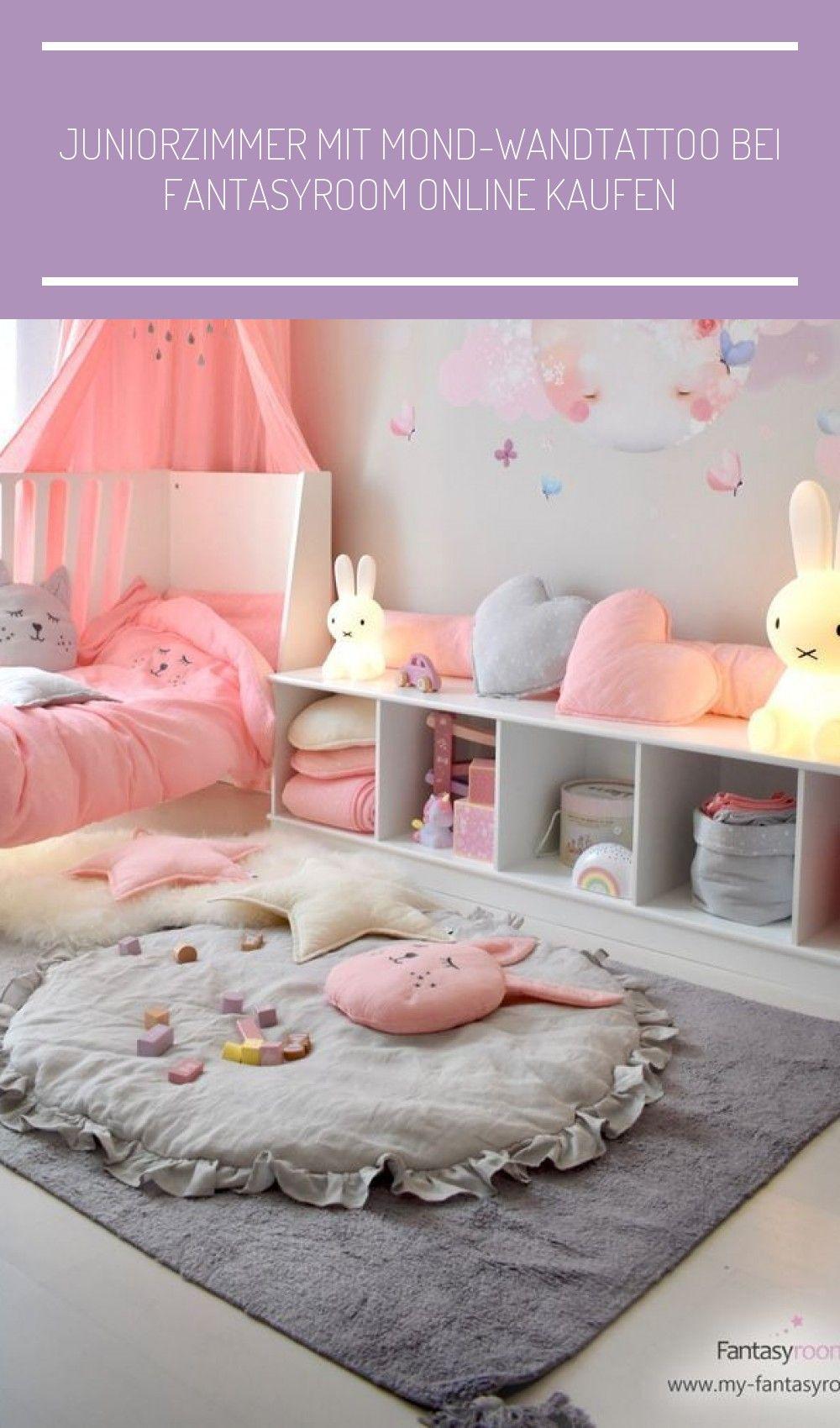 Kinderzimmer für Mädchen in Rosa & Grau Dekoidee zum