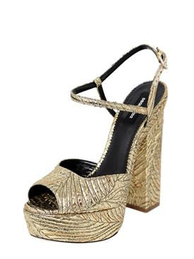 Dsquared2 150MM BROCADE PLATFORM SANDALS veKftnQFf