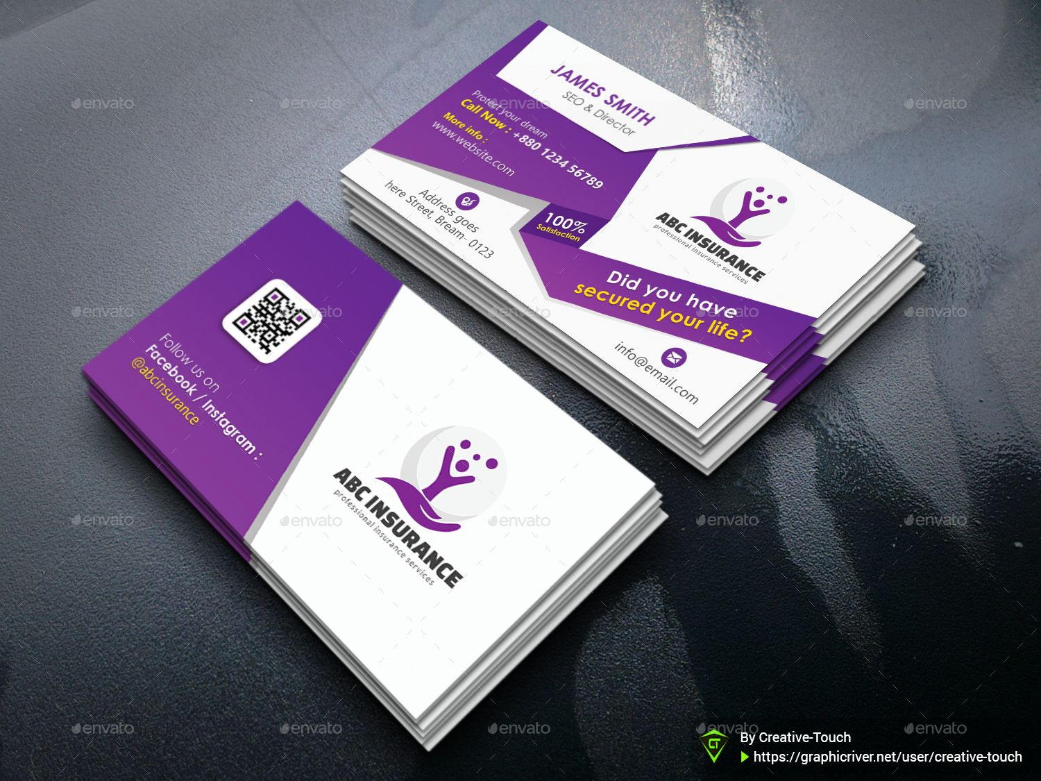 Corporate Insurance Business Card Business Insurance Corporate Insurance Business Card Template