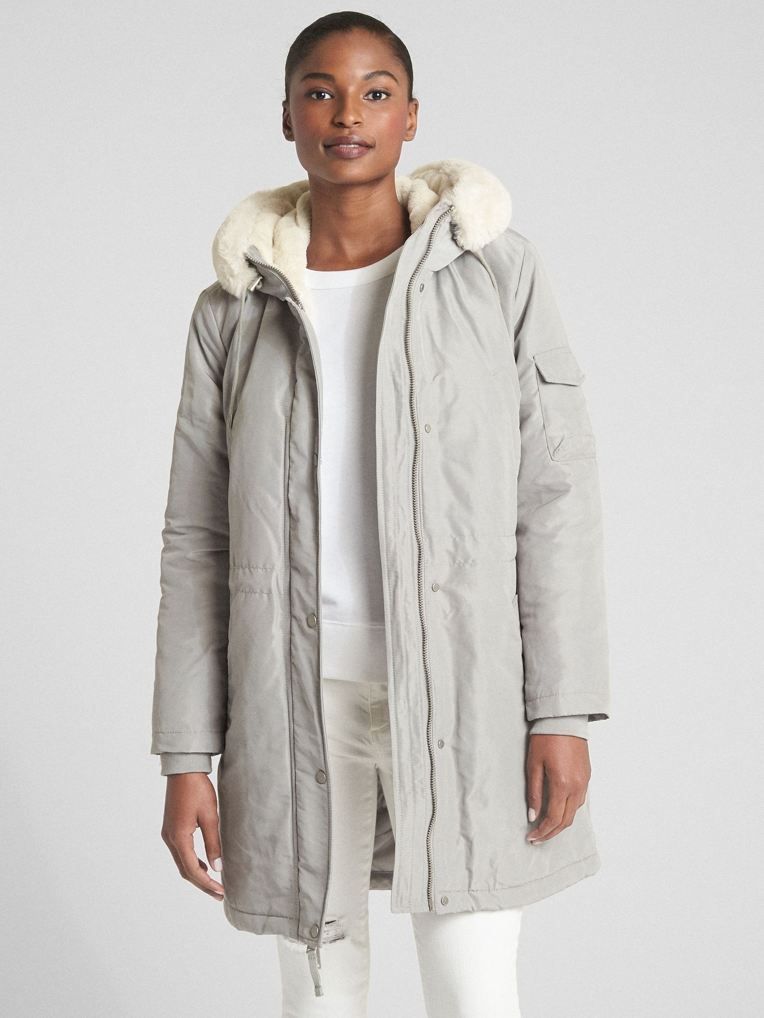 70a086cccd9 ColdControl Faux-Fur Parka | Gap I'll take the gray one in a petite ...