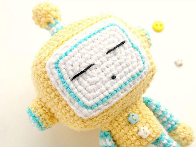 Cute crochet robot amigurumi pattern   Pinterest   Crochet patrones ...