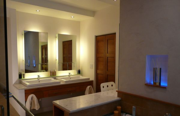 recessed vanity lighting. Backlit Vanity Mirrors Look All The More Beautiful With Tiny Recessed Lights Above Lighting E