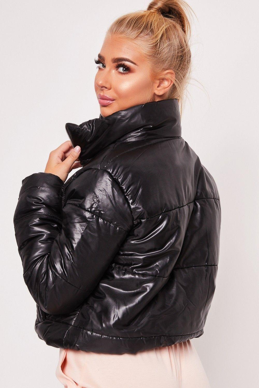 Ruby Black Cropped Puffer Jacket Puffer Jacket Women Puffer Jackets Black Puffer Jacket