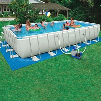 Our Intex 24 X 12 X 52 Rectangular Ultra Frame Swimming Pools