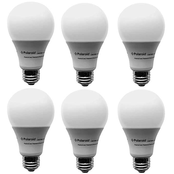Polaroid Dimmable 100 Watt Equivalent 20w A21 Led Bulb 1600 Lumens 5000k Daylight 6 Pack Ploa21 100 1600 20 2d Amazon Com Light Bulb Bulb Led Light Bulbs