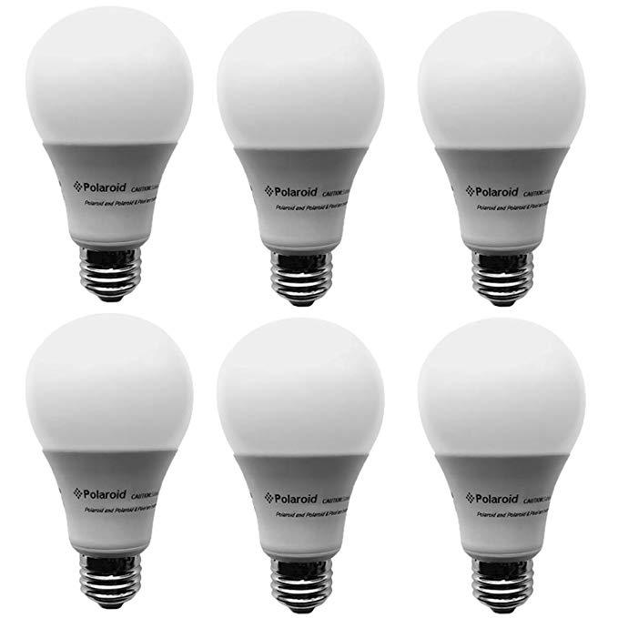 Polaroid Dimmable 100 Watt Equivalent 20w A21 Led Bulb 1600 Lumens 5000k Daylight 6 Pack Ploa21 100 1600 20 2d Amazon Com Light Bulb Bulb Led Light Bulbs