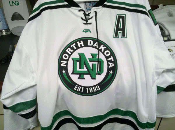 promo code 8003a b0e5c University North Dakota Face Off Hockey Jersey White ...