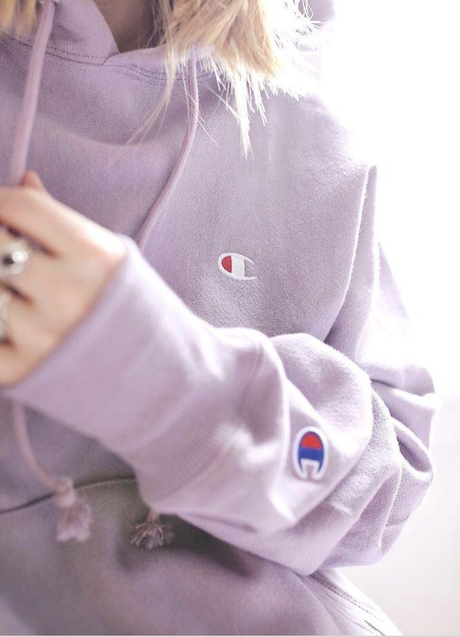 Lilac hoodie #championhoodie