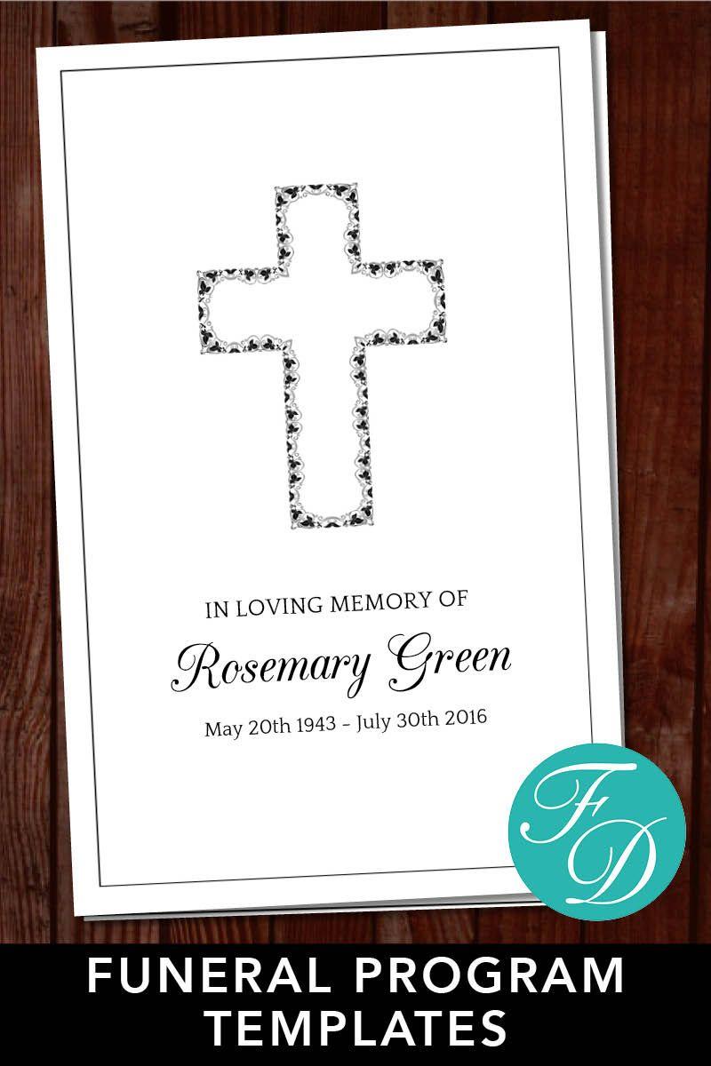 Funeral program template, order of service, memorial program ...