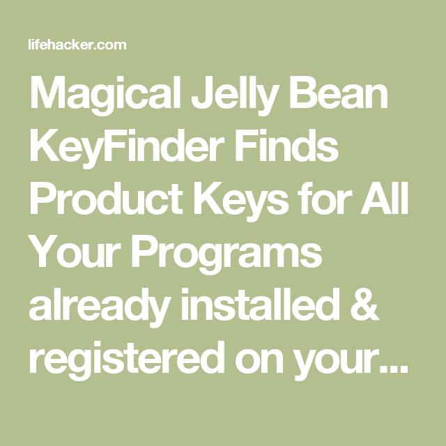 magical jellybean keyfinder