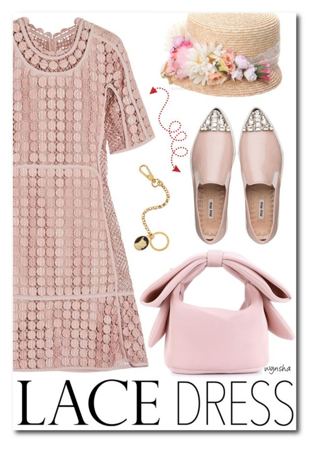 """""""Lovely LACE Dress #2"""" by wynsha ❤ liked on Polyvore featuring Chloé, Miu Miu, Simone Rocha, Grevi, Marc by Marc Jacobs, lacedress, polyvorecontest and polyvorefashion"""