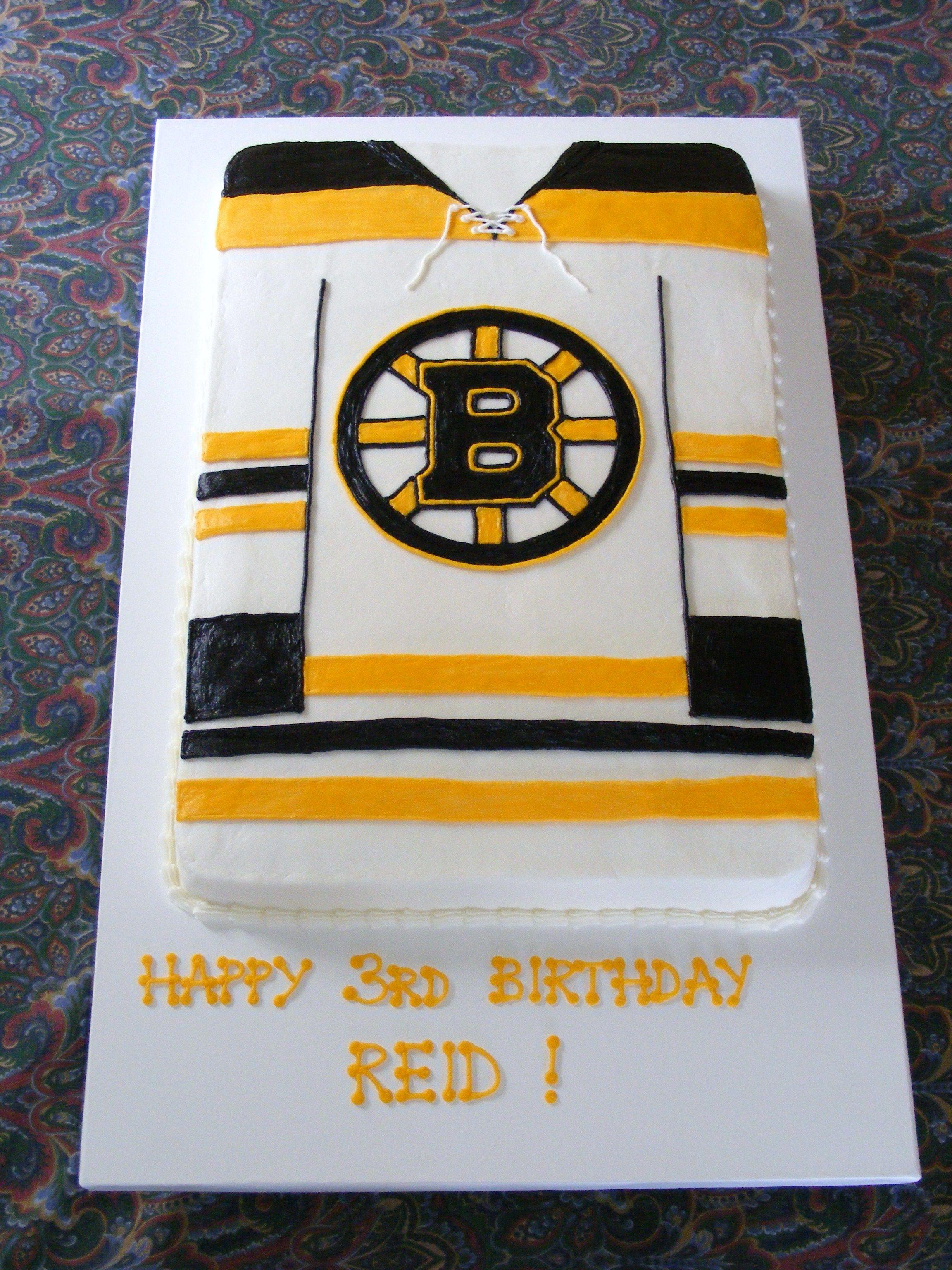 Boston Bruins Jersey Hockey Hockey Birthday Cake Hockey Birthday Hockey Birthday Parties