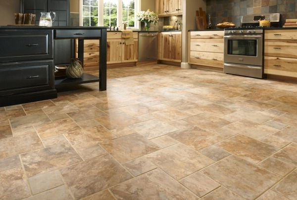 Sedona Slate Cedar Glazed Porcelain Floor Tile Trendy Kitchen