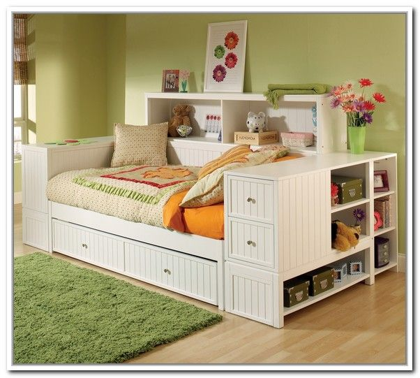 White Daybed With Storage Drawers Daybed With Storage White