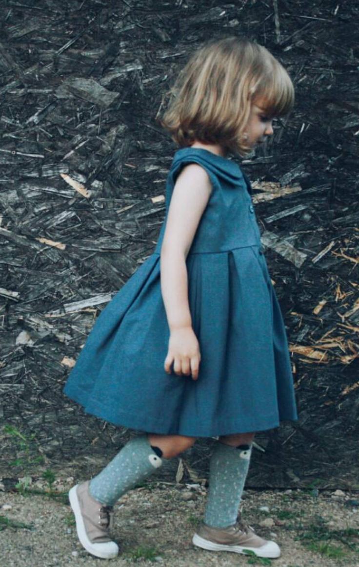 Sweet Handmade Denim Dress   Etsy